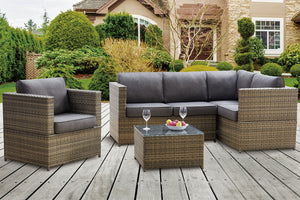P50296 Outdoor 4-Pcs Conversation Set
