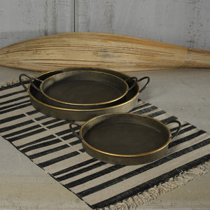Archer Galvanized Tray - round