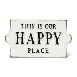 Cast iron Mini Happy Place Sign