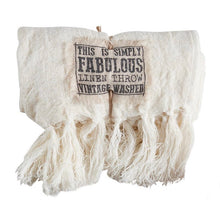 Load image into Gallery viewer, Linen Throw - antique white