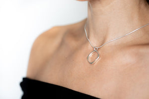 Load image into Gallery viewer, Geo Diamond Necklace
