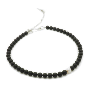Load image into Gallery viewer, Black Onyx, Pearl Necklace