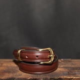 "Brown Leather Belt - 1"" (25mm)"