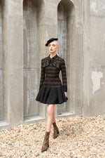 Kelly Dress Brown Tweed
