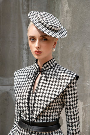 Load image into Gallery viewer, Jackie Jacket - Black and White Houndstooth