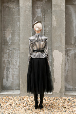 Jackie Jacket - Black and White Houndstooth