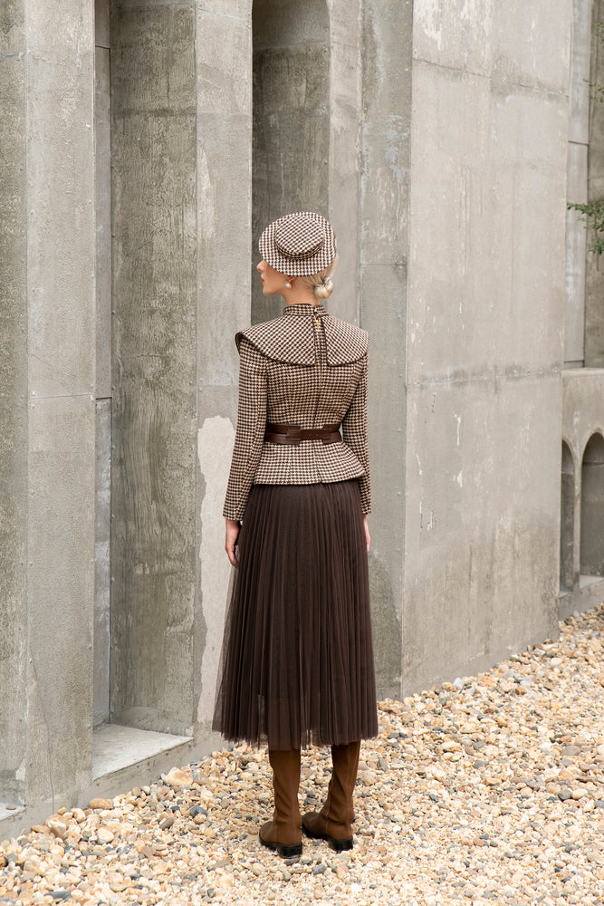 Mesh Skirt - Brown