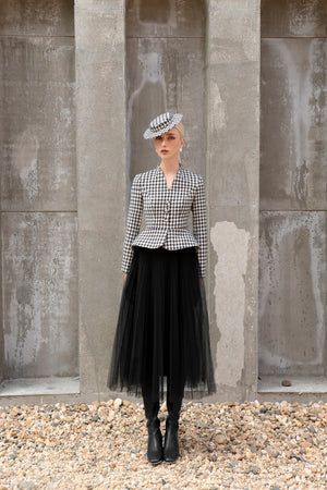 Load image into Gallery viewer, Bloom Blazer Black and White Houndstooth