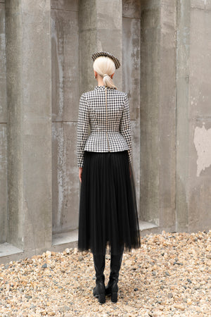 Bloom Blazer Black and White Houndstooth