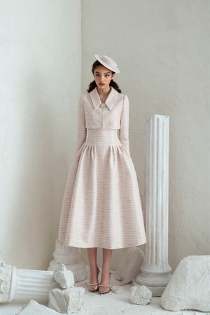 Rania Dress & Rania Jacket - Pale Pink