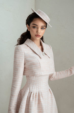Load image into Gallery viewer, Rania Dress & Rania Jacket - Pale Pink