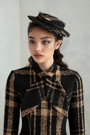 Wallis Hat - Brown Plaid
