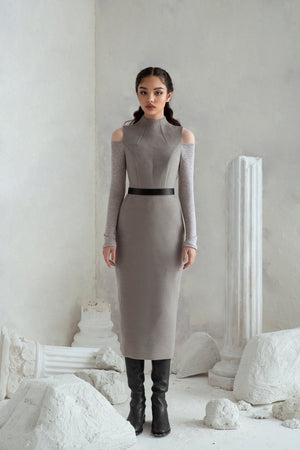 Melania Dress - Grey