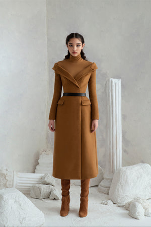 Michelle Dress Coat - Camel