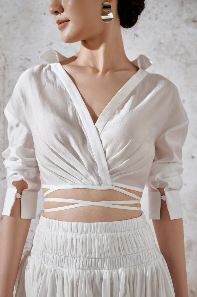 Organza Silk Top - White