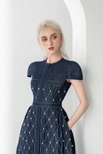 DENIM PEARL DRESS