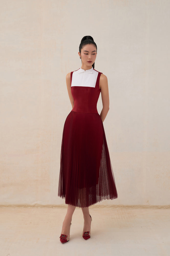 Alula Dress Bordeaux