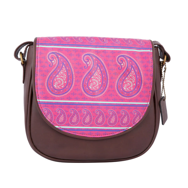Paisley Sling Bag Round