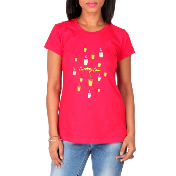 Cutting Chai Ladies T-Shirt