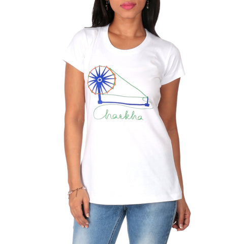Charkha Ladies T-Shirt