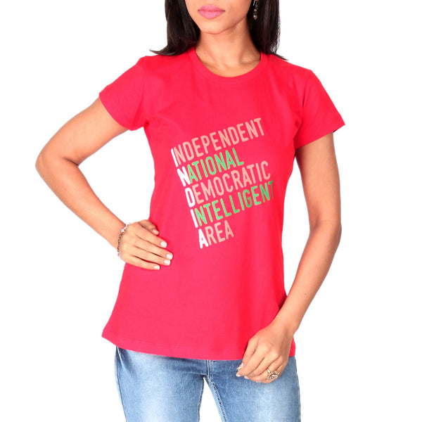 India Elongation Ladies T-Shirt