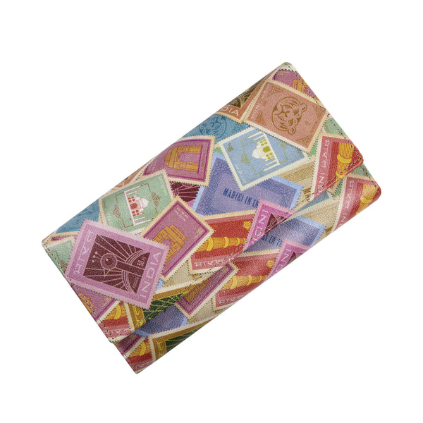 Indian Stamps Womens Clutch