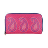 Paisely Zipper Women's Clutch
