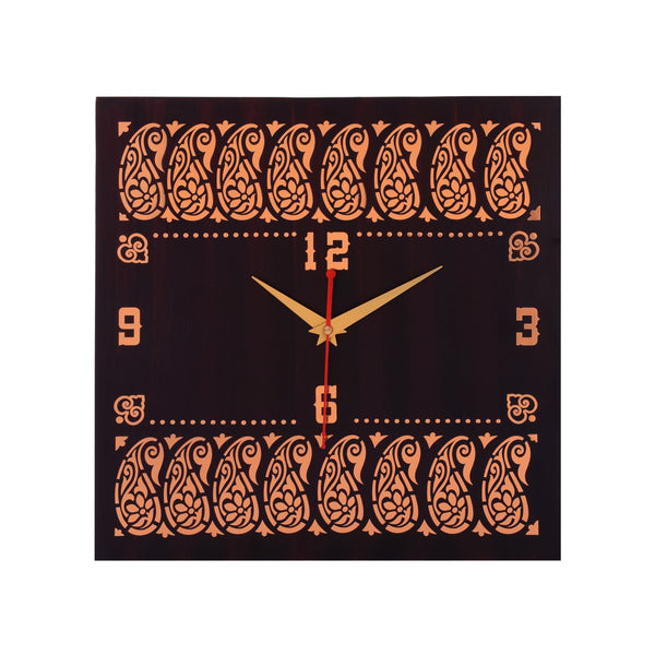 Paisley Wall Clock Metal on MDF