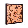 Ganesha Wall Clock Metal on MDF