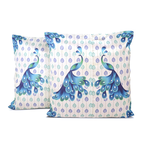 Classic Peacock Cushion Cover - Set of 2