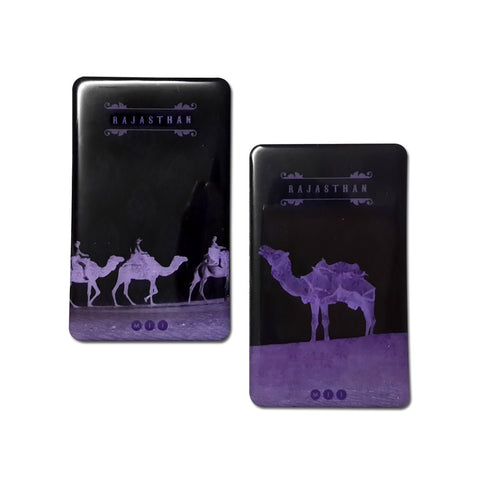 Rajasthani Camel Fridge Magnets - Set of 2