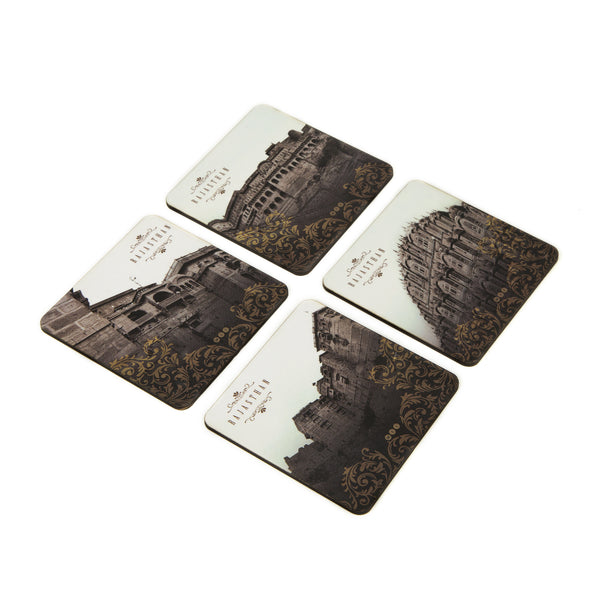 Rajasthan Coaster Set - Set of 4 with Stand