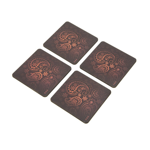 Paisely Coaster Set - Set of 4 with Stand