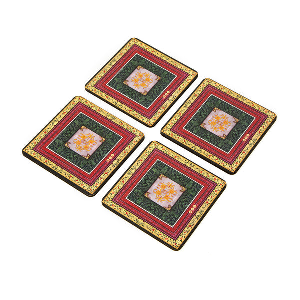 Miniature Painting Coaster - Set of 4 with Stand