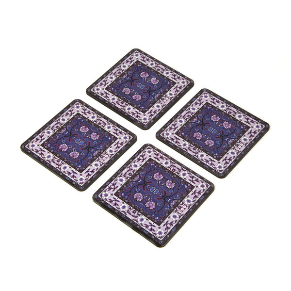 Mughal Art Coaster - Set of 4 with Stand
