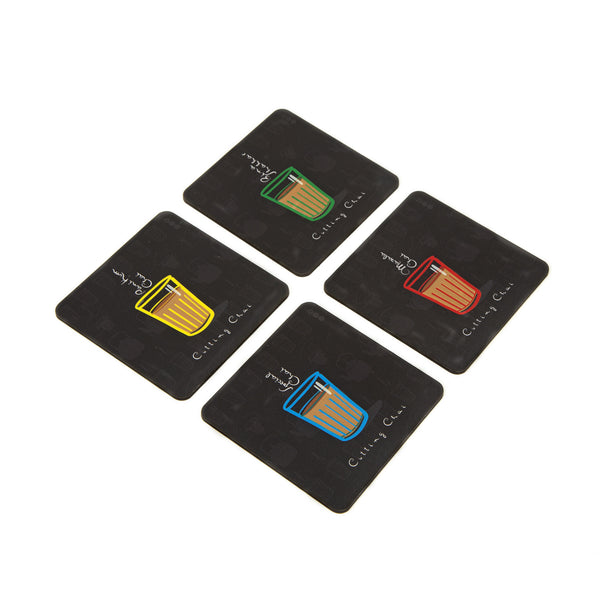 Cutting Chai Coaster - Set of 4 with Stand