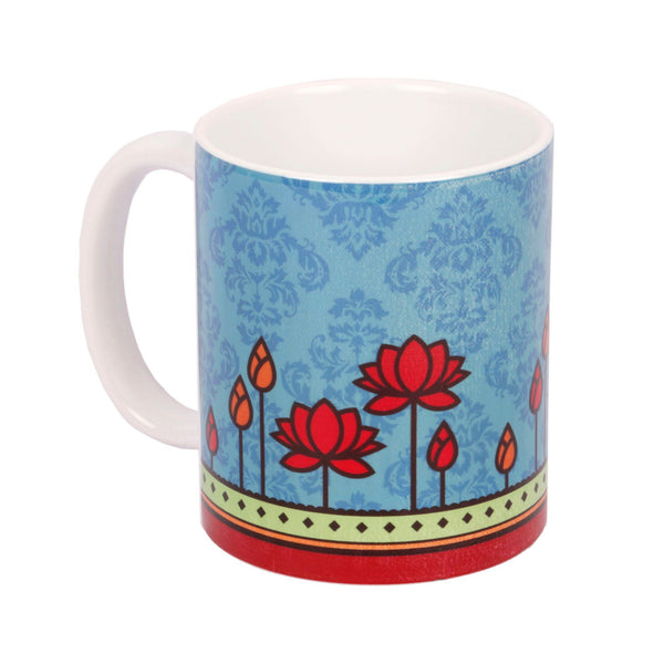 Geometric Lotus Coffee Mug