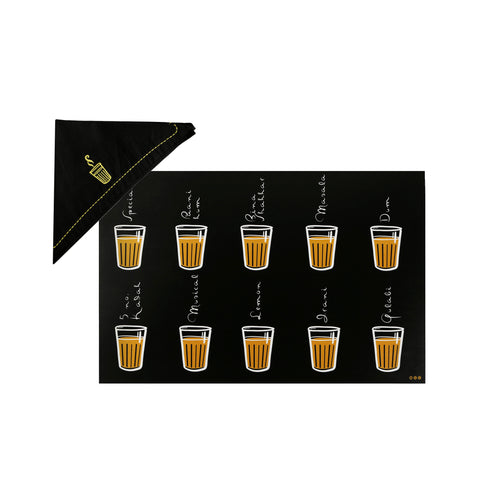 Cutting Chai Table Mats & Napkins - Set of 2
