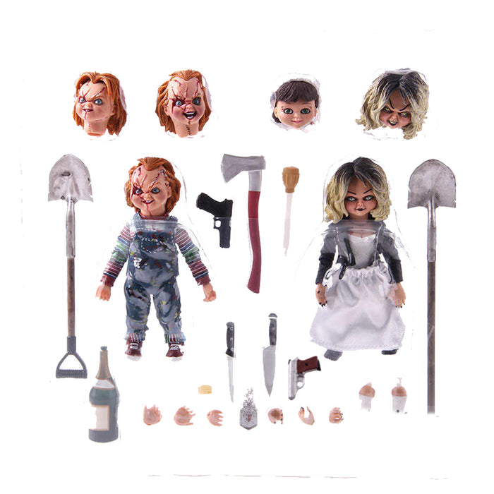 NECA MOVIES BRIDE OF CHUCKY ULTIMATE CHUCKY & TIFFANY