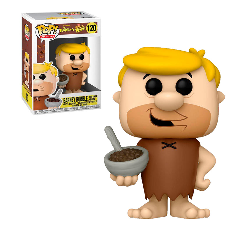 FUNKO POP ICONS THE FLINTSTONE COCOA PEBBLES BARNEY RUBBLE WITH COCOA PEBBLES120