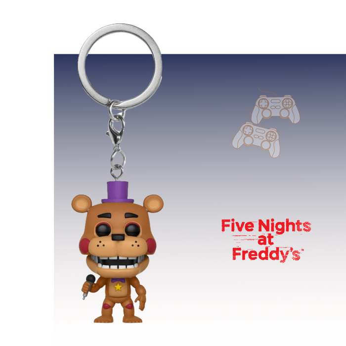 FUNKO KEYCHAIN GAMES FIVE NIGHTS AT FREDDY'S ROCKSTAR FEDDY