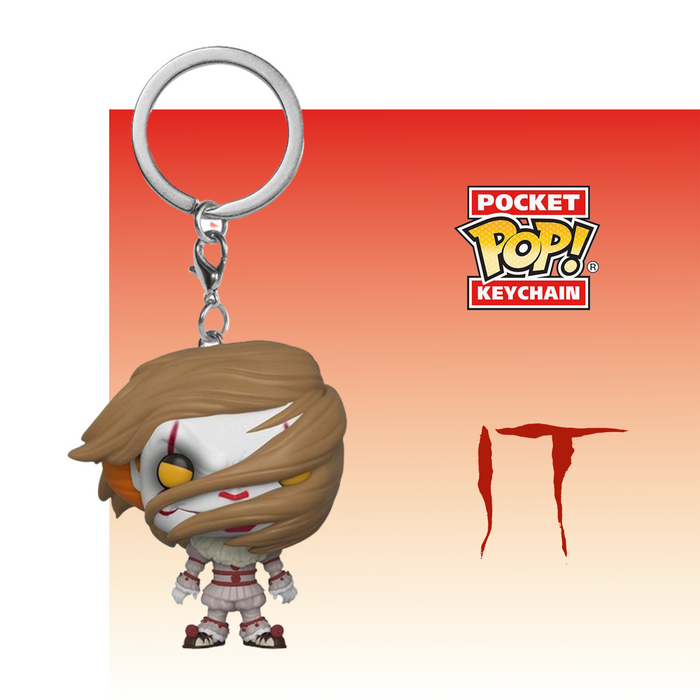 FUNKO KEYCHAIN MOVIES IT PENNYWISE WITH WIG