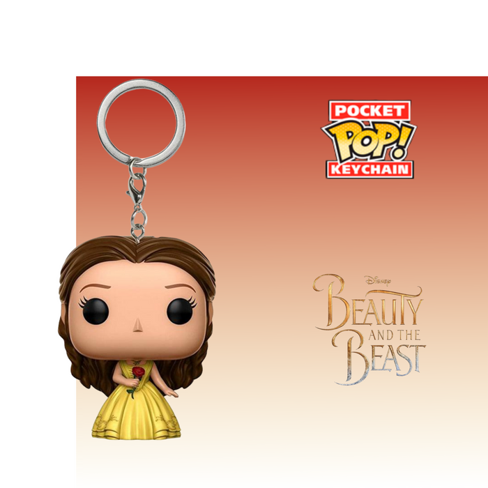 FUNKO KEYCHAIN DISNEY BEAUTY AND THE BEAST BELLE