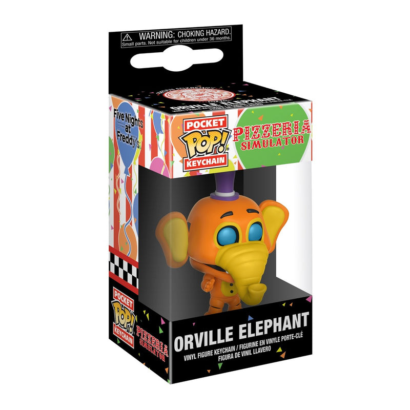 FUNKO POP KEYCHAIN GAMES FIVE NIGHTS AT FREDDY'S ORVILLE ELEPHANT