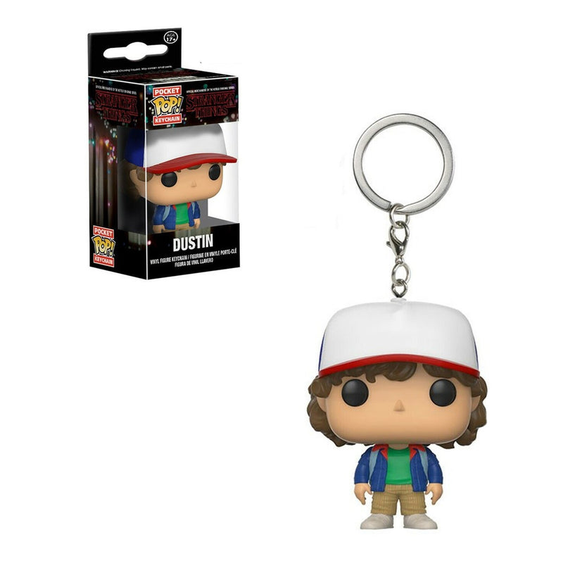FUNKO POP KEYCHAIN TV STRANGER THINGS DUSTIN
