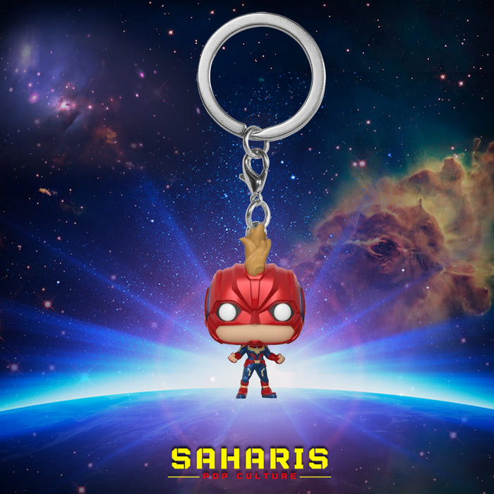 FUNKO KEYCHAIN MARVEL CAPTAIN MARVEL WITH HELMET