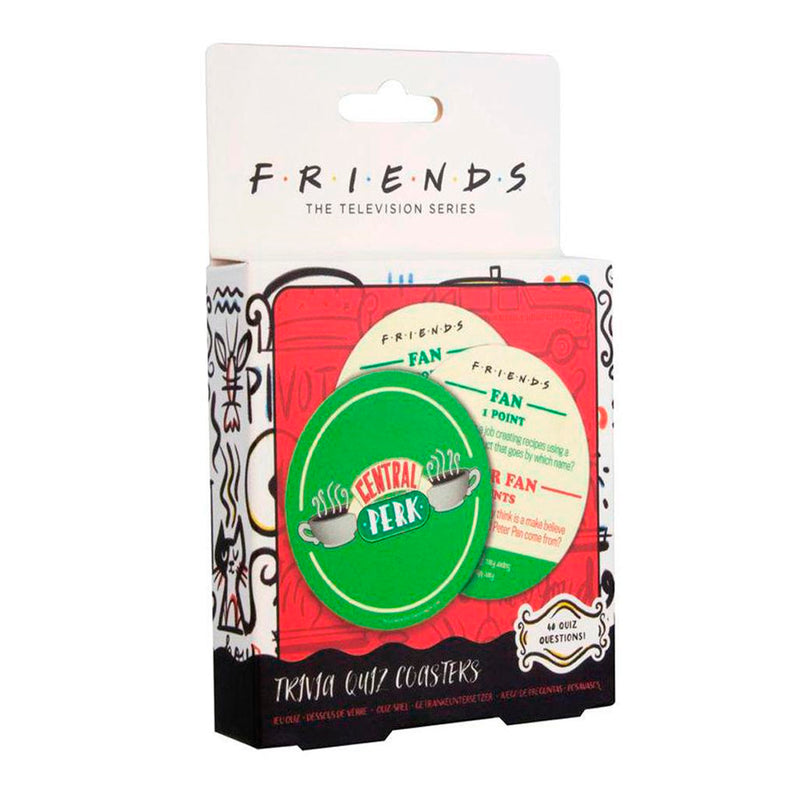 PALADONE TV FRIENDS CENTRAL PERK TRIVIA QUIZ COASTERS
