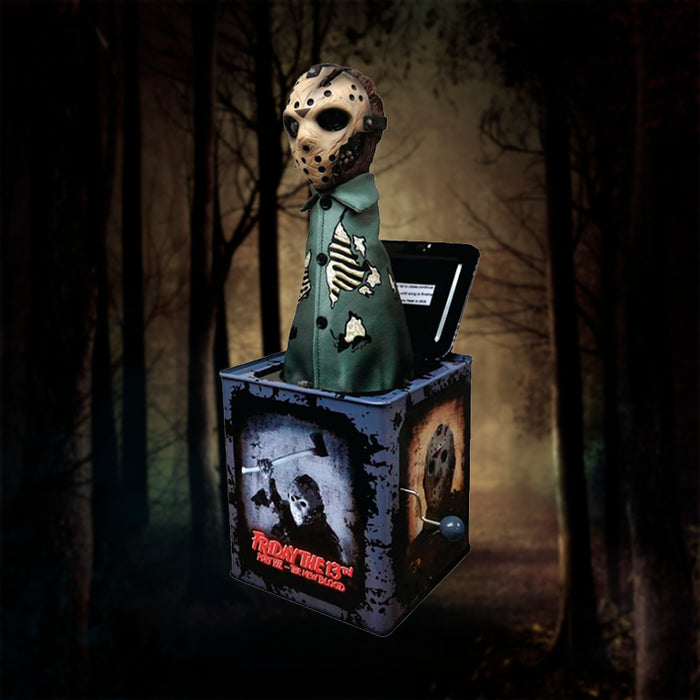 MEZCO BURST A BOX MOVIES FRIDAY THE 13TH JASON VOORHEES