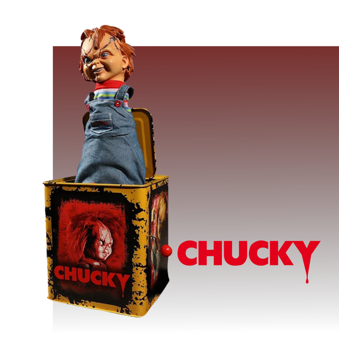 MEZCO BURST A BOX MOVIES BRIDE OF CHUCKY CHUCKY