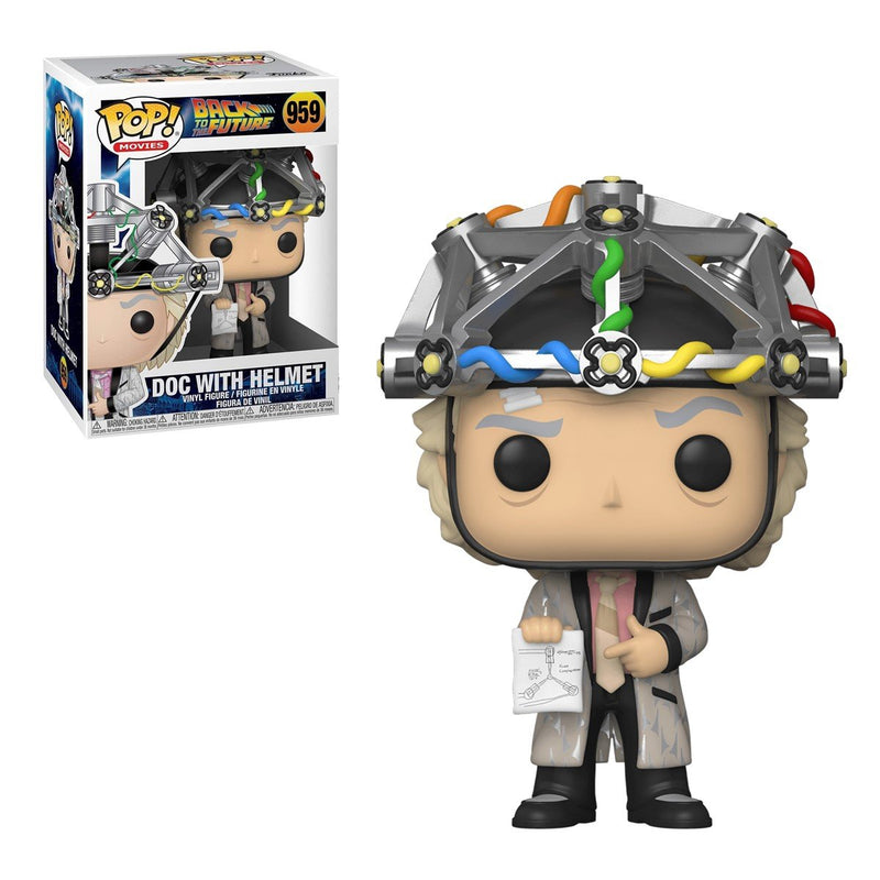 FUNKO POP MOVIES BACK TO THE FUTURE DOC WITH HELMET 959
